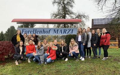 4AHW besuchte  Forellenhof Marzi und Teigwaren Oswald