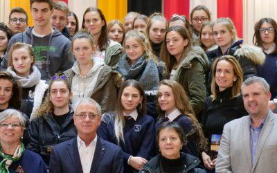 Erster Besuch der Partnerschule aus Udine